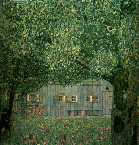Gustav Klimt:  Farmhouse in Upper Austria, 1911