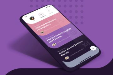 Social Meet Up UI Kit pour Adobe XD