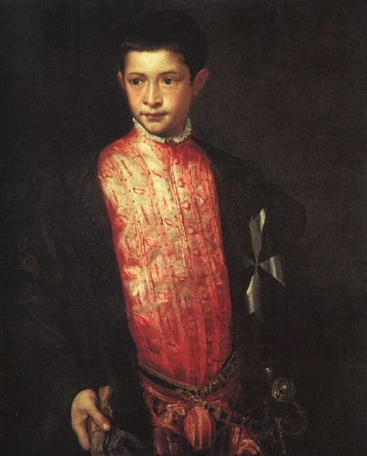 Titian - Portrait of Ranuccio Farnese 1542