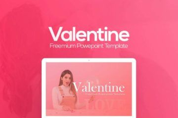 VALENTINE:  un template Power Point gratuit de 10+ slides