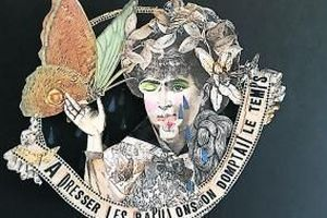 Blagnac. Exposition Madame:  l'art mordant du collage vintage