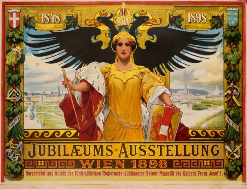 Alois Hans SCHRAM Poster of the Jubilee Expo Vienna 1898