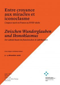 Colloque international:  « Entre croyance aux miracles et iconoclasme »