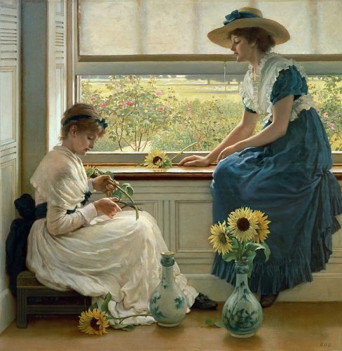 George Dunlop LESLIE Sun and Moon Flowers