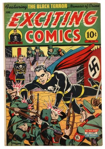 Alex Schomburg - Exciting Comics No 33 - Nedor, 1944