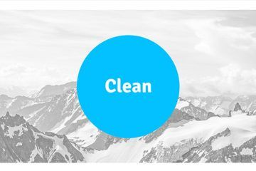 CLEAN:  un template PowerPoint gratuit de 18 slides