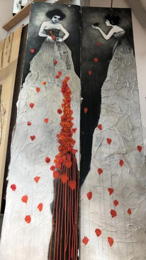 """""""The fire bird and the golden seed"""" 40x175"""
