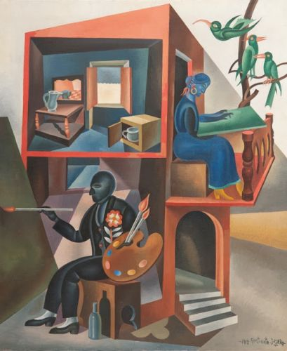 Fortunato Depero - I and My Wife 1940