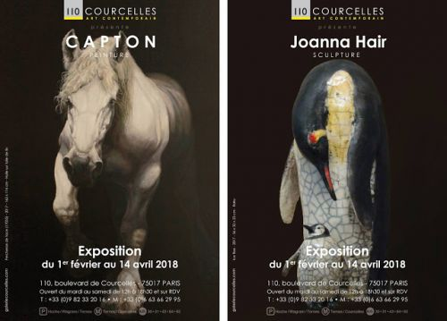 CAPTON ET JOANNA HAIR À LA GALERIE COURCELLES ART CONTEMPORAIN DU 1ER FÉVRIER AU 14 AVRIL 2018