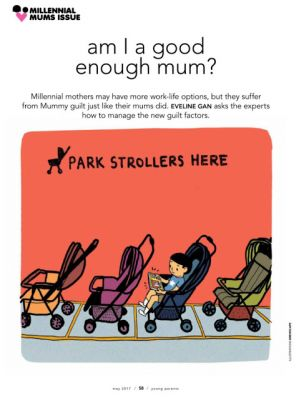 Illustrations for Young Parents May 2017 Issue