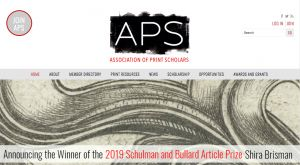 Association of Print Scholars Publication Grant