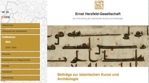 Ernst Herzfeld Award for Master Theses in Islamic Art History and Archaeology