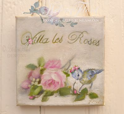 "French sign "" Villa les Roses """