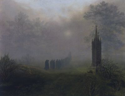 Ernst Ferdinand OEHME Procession in the Fog 1828