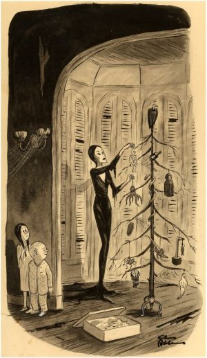 Charles Addams - The Addam's Family Christmas, 1947