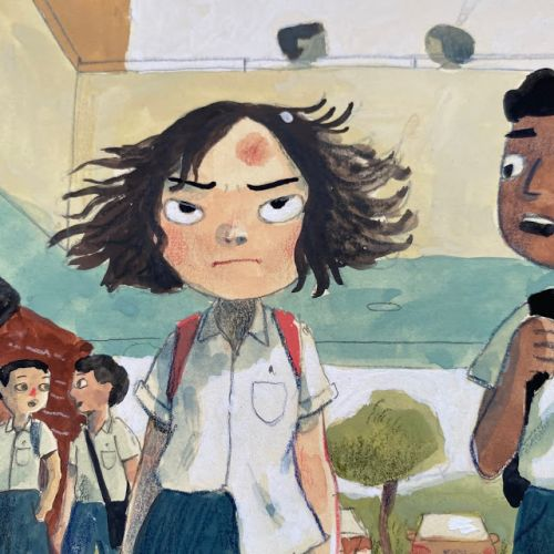 Original paintings for stories for the Ministry of Education