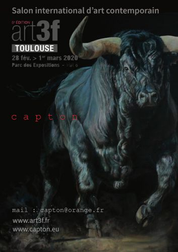 TOULOUSE:  CAPTON EXPOSE AU SALON ART3F