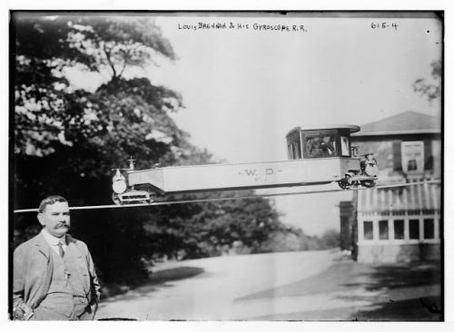 Louis Brennan et son gyroscopic mono-rail