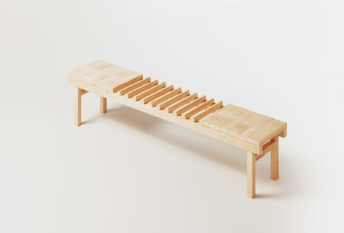 A-part le banc de distanciation par Oxymoro Design