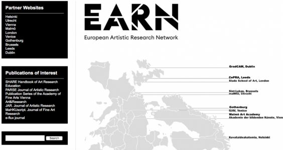 Appel à contributions:  European Artistic Research Network