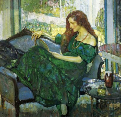 Richard Edward Miller - Miss V in Green 1920