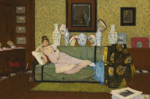 John Atkinson GRIMSHAW A Reverie, In the Artist's House 1878