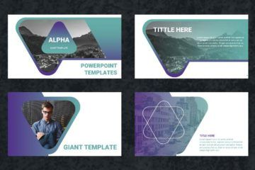 ALPHA:  un template PowerPoint gratuit de 30 slides