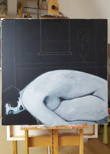 """""""your personal shrine"""" 100x100cm"""