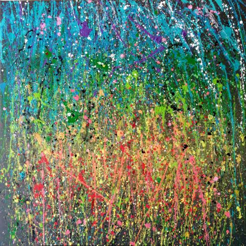 Abstract expressionisme action painting salamone