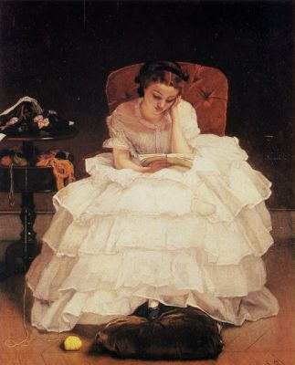 Alfred Stevens - Young Woman Reading 1856