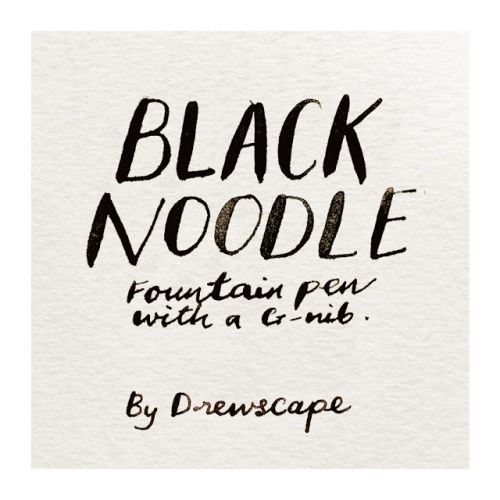 BLACK NOODLE - G-nib fountain pen by Drewscape: 5 PENS FOR SALE!