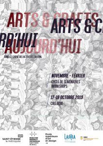 Colloque:  « Arts and Crafts aujourd'hui »