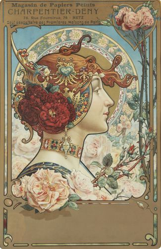 Louis -Théophile HINGRE Advertisement for a wallpaper company 1890