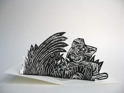 Pop-up Linogravure