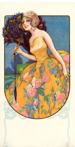 Art Deco Fashion Postcard by Gaspar Camps