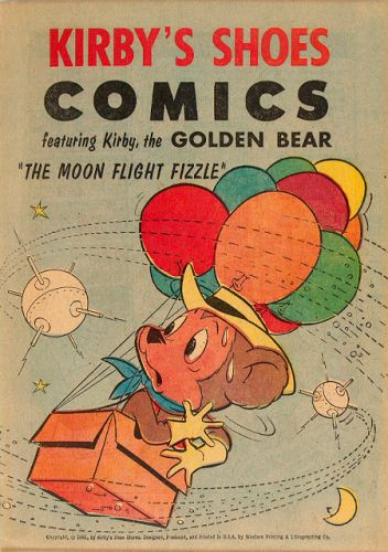 Kirby's Shoes Comics - The Moon Flight Fizzle - Western, 1961