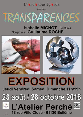 TRANSPARENCES : exposition ISABELLE MIGNOT (peintures) / GUILLAUME ROCHE (sculptures)