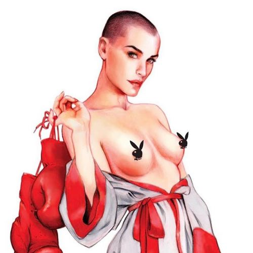 Just a little close-up of my artwork of vendela for playboy magazine's centerfold! It's out! Go and buy it! (see my previous post to see the whole pin-up) 🐰 eroticart pinupart