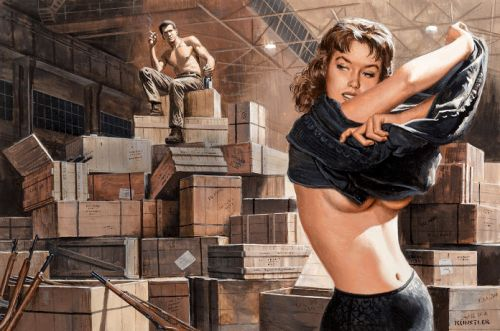 Mort Künstler - Warehouse Girl, Stag 1965