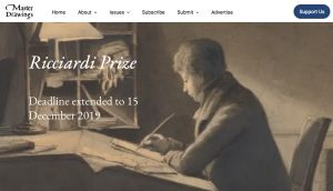 Appel à publication:  Master Drawings, second annual Ricciardi Prize