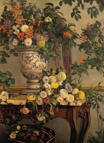 Frederic BAZILLE Flowers 1868