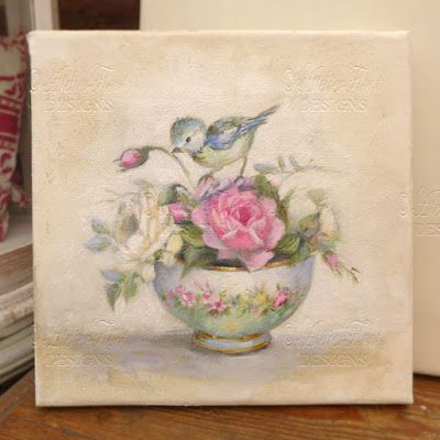 Antique 19th Century Sevres Floral Rose Bowl and bird