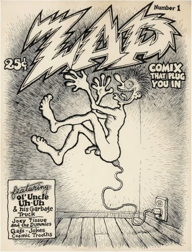 Robert Crumb - Zap Comix No 01 Unused Cover Original Art (1967)