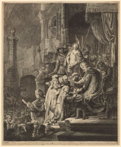 REMBRANDT Christ Before Pilate 1635