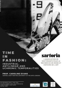 Conférence:  « Time in Fashion » de Caroline Evans - Association Sartoria