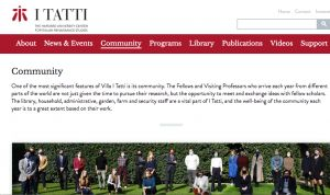 Poste:  Assistant to the Director for Academic Programs, Villa I Tatti