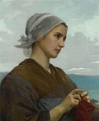 William-Adolphe BOUGUEREAU Tricoteuse Bretonne 1871
