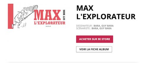 Max L'Explorateur , The Book is also available in digital version, Dupuis ed. , 2018 9€