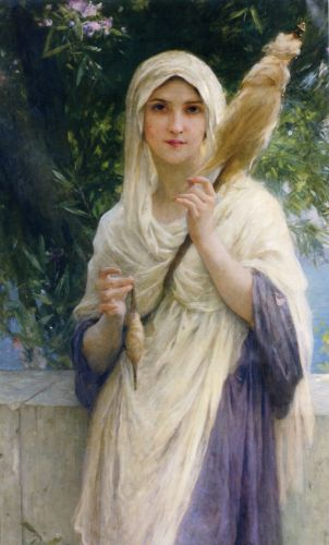 Charles-Amable LENOIR The Spinner by the Sea