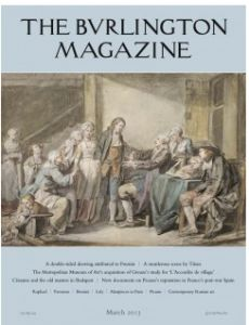 The Burlington Magazine scholarship for the study of French 18th Century fine and decorative art